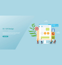 ui ux user interface and user experience design vector image