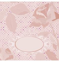 Vintage Floral Roses Card vector image