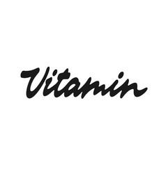 Vitamin lettering vector