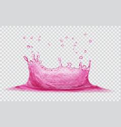 Water crown with drops splash of water vector
