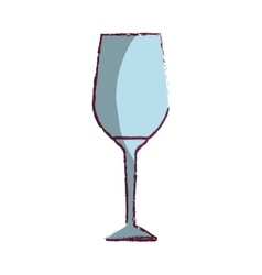 Wine cup kitchen tool isolated icon vector