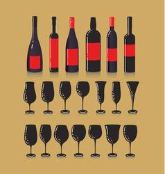 Wine set vector