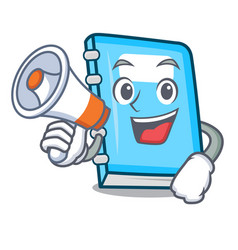 with megaphone education character cartoon style vector image