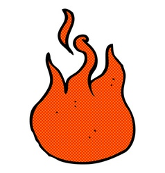 comic cartoon flame symbol vector image