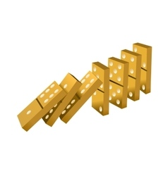 gold dominoes vector image