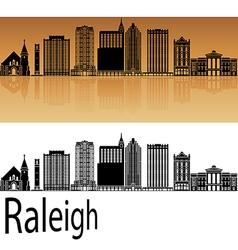 Raleigh V2 skyline in orange vector image vector image
