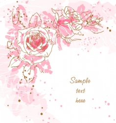romantic background with roses vector image vector image