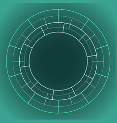 abstract technology circle vector image