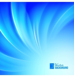 Blue luminous waves vector image vector image