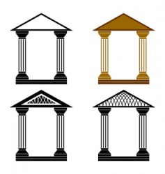 decorative arches vector image vector image