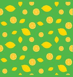 fruits lemon seamless patterns vector image