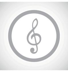 Grey treble clef sign icon vector