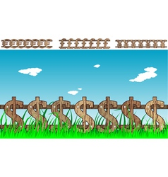 money fence vector image vector image