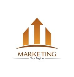 Orange marketing logo vector image
