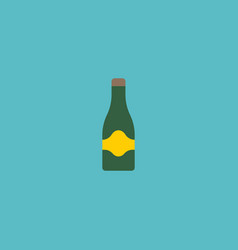 flat icon champagne element vector image