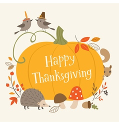 Happy thanksgiving greeting card vector