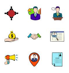reward icons set cartoon style vector image vector image