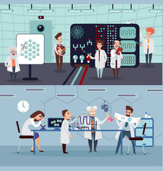 scientific research horizontal banners vector image