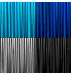 set curtain vector image vector image