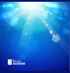 Sun shine rays with bokeh vector image vector image