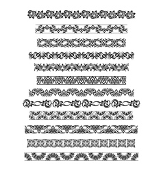 Thai ornament border patterns with thai vector image vector image