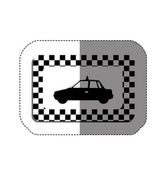 border taxi side car icon vector image vector image