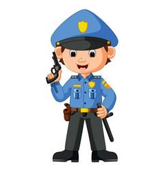 cute policeman cartoon vector image