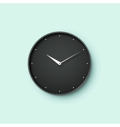 Icon of black clock face with shadow on mint wall vector image