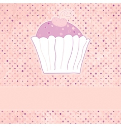 Retro Cupcakes Card vector image