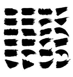 set of black paint vector image