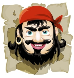 The Smiling Pirate vector image
