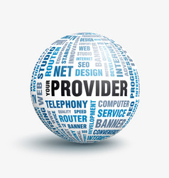 your internet provider vector image