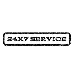 24x7 service watermark stamp vector image