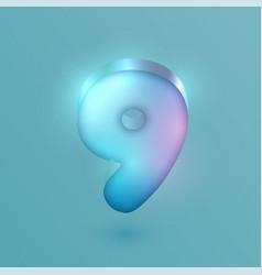 3d realistic neon character vector