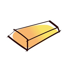 A gold bar vector image
