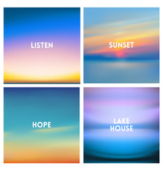 abstract blurred background beautiful sunrise vector image