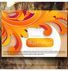 Abstract Floral Backdrop vector image