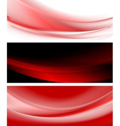 Abstract smooth waves banners vector