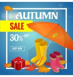 Autumn sale banner Autumn sale flayer Design for vector