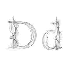 Black smoke font letter d vector