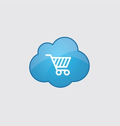 Blue shopping cart icon vector image