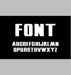 bold font white capital letters modern vector image