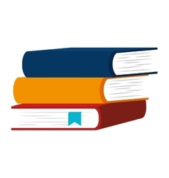 books stacks education vector image
