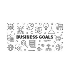 business goals or banner in vector image
