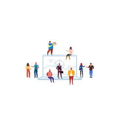 Business people developers group brainstorming vector