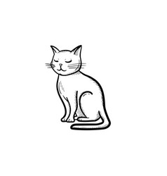cat hand drawn sketch icon vector image