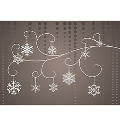 Christmas floral vector