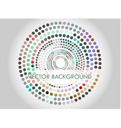 circles in circles vector image