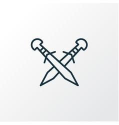 crossed swords icon line symbol premium quality vector image