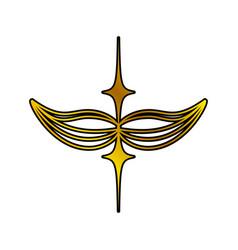 decoration ornament golden swirl vector image